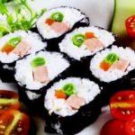 Thực dưỡng chay: cơm lức cuốn rong biển