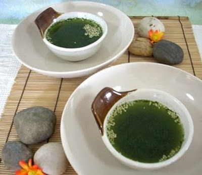 mon chay soup tra xanh