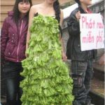 Tin tức ăn chay: Những chiếc váy rau củ tuyệt đẹp